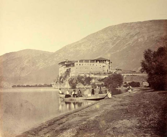 Monastery Saint Naum in 1863